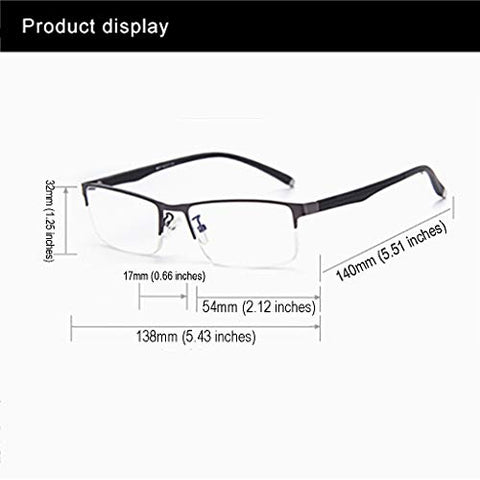 Anti-Radiation Reading Glasses | Comfortable Anti-Fatigue Reading Glasses HD Ultra Light Old Man Glasses Fashion TR90 Frame and Temples for Men +1.0 to +3.0