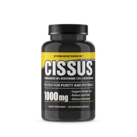 Prima Force Cissus Supplement, 120 Count 1000mg Capsules â?? Supports Weight Loss/Reduces Joint Pain/
