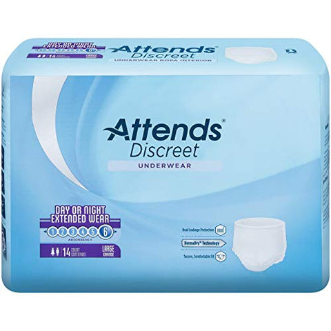 Attends 30333101 Absorbent Underwear Attends Overnight Pull On Large Disposable Super Absorbency Appnt30 Box Of 14