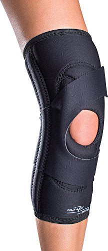 DonJoy Lateral J Patella Knee Support Brace Without Hinge: Drytex, Left Leg, XX-Large