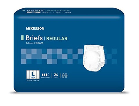 MCKESSON Incontinent Brief McKesson Tab Closure Large Disposable Light Absorbency (#BRPLLG, Sold Per Case)