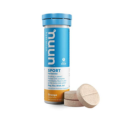 Nuun Sport: Orange Electrolyte Enhanced Drink Tablets (3 Tubes of 10 Tabs) (Nuun Active)