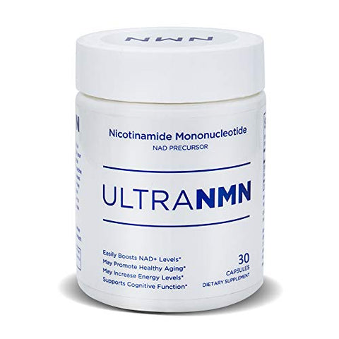 UltraNMN Nicotinamide Mononucleotide NAD+ Supplement,Vitamin B3 Family, 260 mg per Serving - NAD+ Precursor ?Help Promote DNA Repair,Boost Energy,Longevity,Improve Metabolism - 30 Capsules