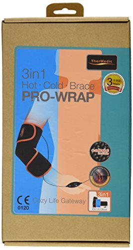 Far Infrared Heating Brace with Heating/Thermal Pad and Ice Pack for Golfer/Tennis Elbow, and Elbow Pain (PW120)