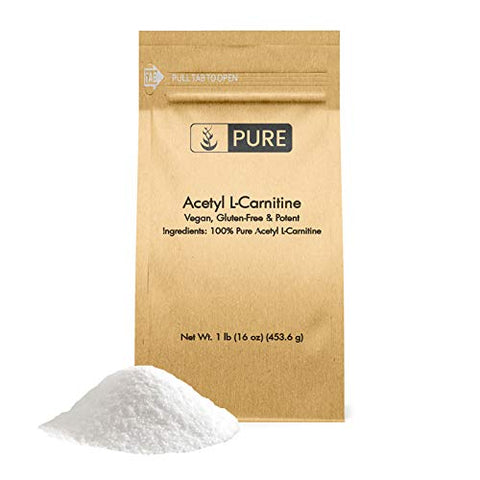 Pure ALCAR Acetyl L-Carnitine Powder (1 lb) Gluten-Free & Vegan, Improve Memory & Energy, Eco-Friendly Packaging*