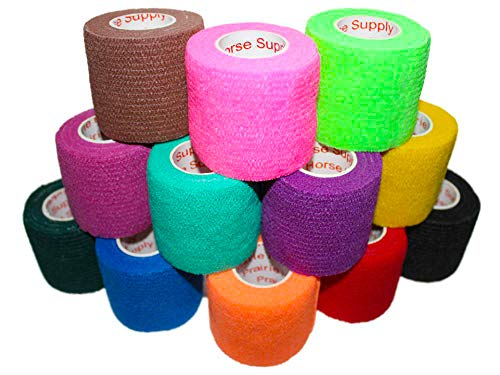 2 Inch Self Adhesive Medical Bandage Wrap Sport Tape (Variety) (18 Rolls) Self Adherent Cohesive Fir