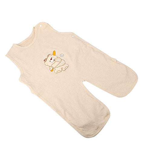 Cotton Baby Sleepsuit, Soft Warm Comfortable Sleepingsack Sleeveless Sleepsuit Anti-Kick for Children Kids Infant(XL)