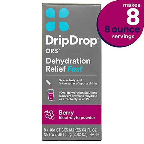 Drip Drop Ors â?? Patented Electrolyte Powder For Dehydration Relief Fast   For Workout, Hangover, Il