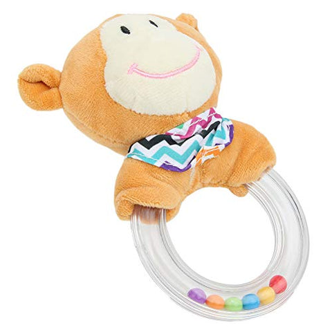 Baby Toy, Playable Beautiful Lovely Soft Funny Safe Plush Toy, for Gift Toy Baby Kids(Scarf Monkey Rattle)