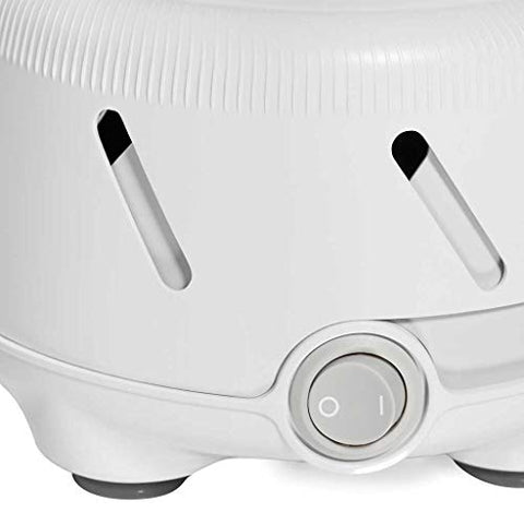 Yogasleep Dohm UNO White Noise Machine (White) | Real Fan Inside for Non-Looping White Noise | Sound Machine for Travel, Office Privacy, Sleep Therapy | For Adults & Baby | 101 Night Trial