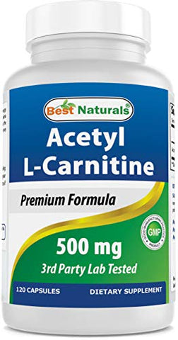 Best Naturals Acetyl L-Carnitine 500 Mg 120 Capsules