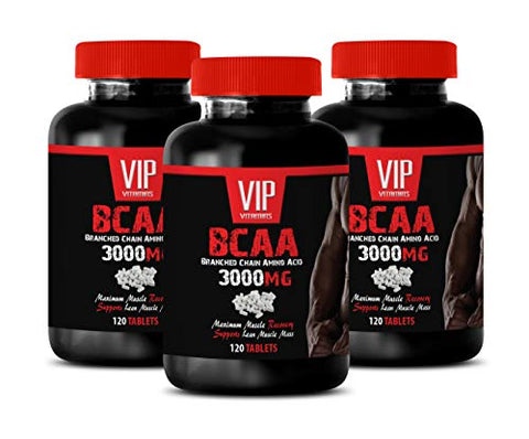 pre Workout bcaa Energy - BCAA - BRANCHED Chain Amino Acid 3000 MG - bcaa Muscle Growth Supplements - 3 Bottles 360 Tablets