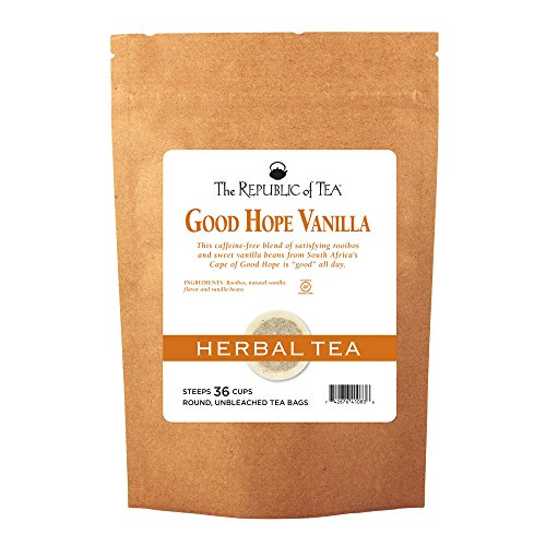 The Republic Of Tea Good Hope Vanilla Tea, 36 Tea Bags, Non Caffeinated, Gourmet Rooibos Red Tea Ble