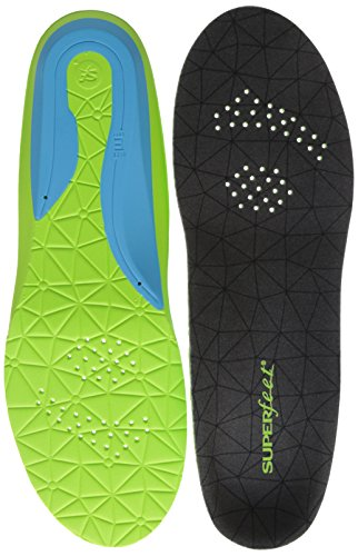 Superfeet FLEXmax, Comfort Insoles for Roomy Athletic Shoe Maximum Cushion and Support, Unisex, Emerald, X-Small/B: 4.5-6 Wmns/2.5-4 Juniors
