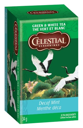 Celestial Seasonings Green Tea DECAF Mint, 20-count (Pack of6)