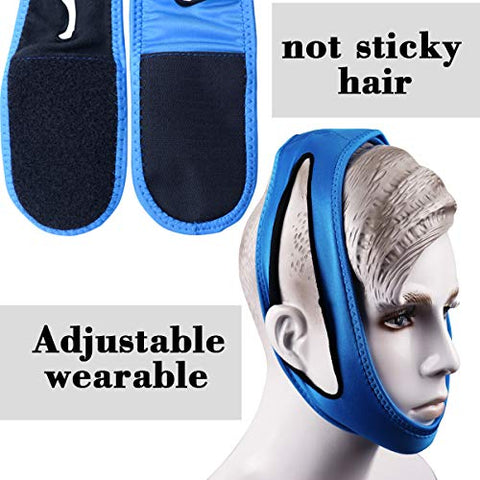 Anti Snoring Chin Strap Device - Snore Reducing Aids Sleep Solution - Adjustable Snore Reduction Straps for Men & Women (2)
