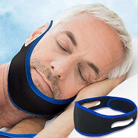 GHzzY Anti Snoring Chin Strap - Comfortable & Adjustable Snoring Relief Device - Snore Stopper Strap for Man & Woman(2 Pack)
