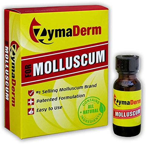 ZymaDerm Natural Molluscum Contagiosum Treatment for Kids & Adults, Fast, Gentle & Painless Plant-Based Formulation  FDA Registered, Made in USA, 13 Milliliter