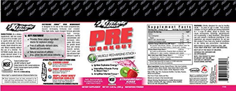 Bluebonnet Nutrition Extreme Edge Pre Workout, Strawberry Kiwi, 0.66 Pound