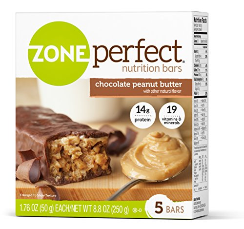 ZonePerfect Protein Bars, Chocolate Peanut Butter, High Protein, With Vitamins & Minerals (30 Count)