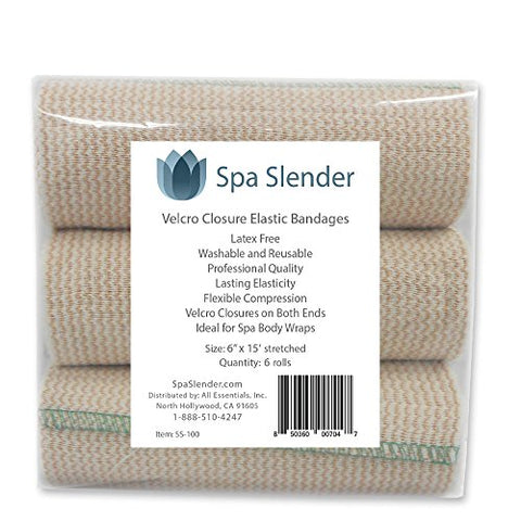 Spa Slender Body Wrap Elastic Bandages, Durable, Washable. Latex Free, Great For Sports Injuries And