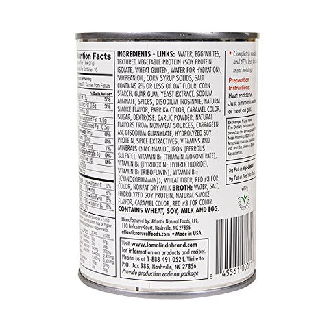 Loma Linda - Plant-Based - Veja-Links (19 oz.) (Pack of 12) - Kosher