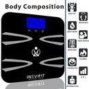 Image of INEVIFIT Body-Analyzer Scale, Highly Accurate Digital Bathroom Body Composition Analyzer, Measures Weight, Body Fat, Water, Muscle, BMI, Visceral Levels & Bone Mass for 10 Users. 5-Year Warranty