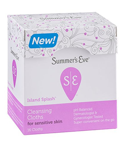 Summer Eve Clns Clh Ilnd Size 16ct Summers Eves Cleansing Cloth Island Splash 16ct