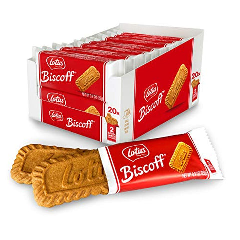 Lotus Biscoff Cookies 40 Cookies (2 Packs), 17.6 Oz