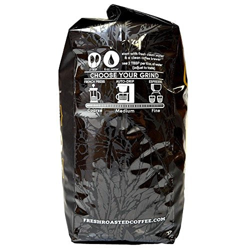 Fresh Roasted Coffee LLC, Tiger Nebula Coffee, Artisan Blend, Medium Roast, Mild Body, Whole Bean, 5 Pound Bag