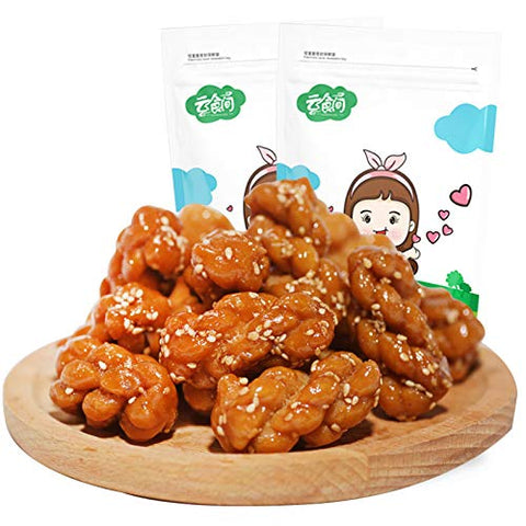 Chinese Fried Dough Twists Brown Sugar Flavor Small Twist Crisp Mahua 500g ??????????500g???