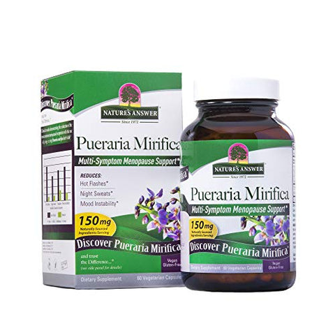 Nature's Answer Pueraria Mirifica Vegetarian Capsules Contains Folic Acid & Vitamin B12 | Promotes W