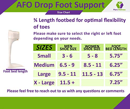 Ankle Foot Orthosis Support - AFO - Drop Foot Support Splint Left, Small