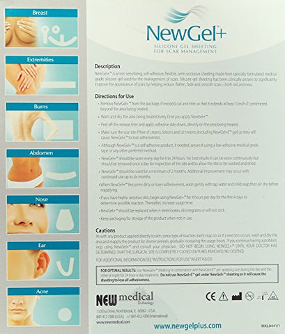 NewGel+ Silicone Gel Strips for Scar Managment - 1