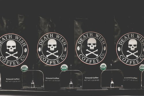 Death Wish Coffee Company Ground Coffee, 16 Oz