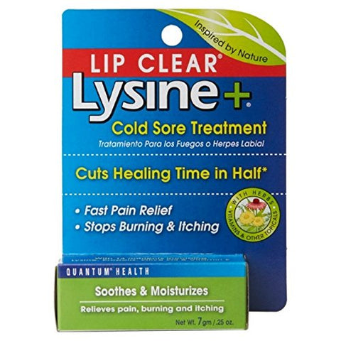 Lip Clear Lysine+ Cold Sore Treatment 0.25 oz ( Pack of 5)