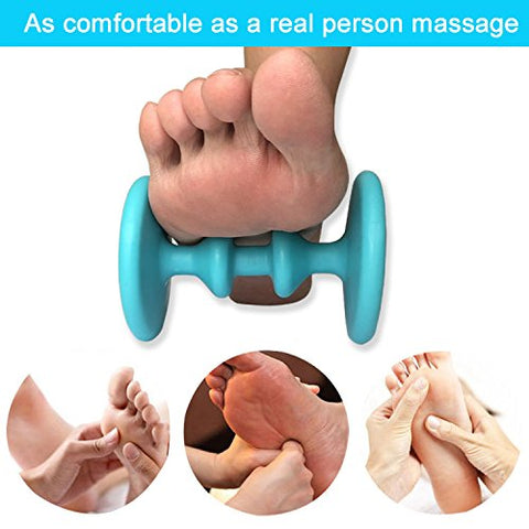 Foot Massager Roller & Spiky Ball Therapy Set, Foot Massage for Plantar Fasciitis, Heel & Foot Arch Pain Relief, Reflexology Tool for All Over Body Deep Tissue Massage, Muscle Roller for Men & Women