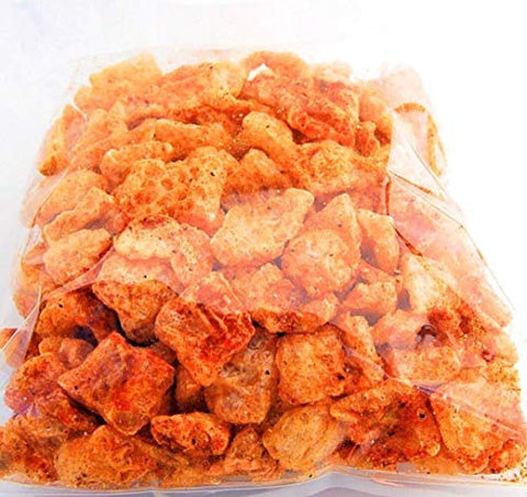 What's Crackalackin Small Bite Pork Rinds, Cajun Asian Flavored, Keto Friendly Snack With Zero Carbs