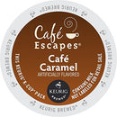 Image of Cafe Escapes Keurig K Cups, Caramel, 0.51oz(14.6g)/netwt 12.3 oz(350g)48 Count