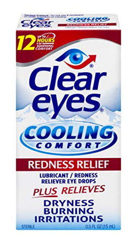 Clear Eyes | Cooling Comfort Redness Relief Eye Drops | 0.5 FL OZ