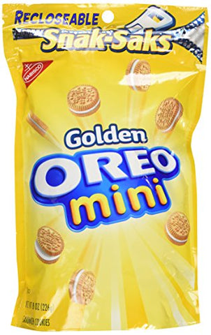 Nabisco, Golden Oreo Mini, Snak-Saks (Pack of 4)