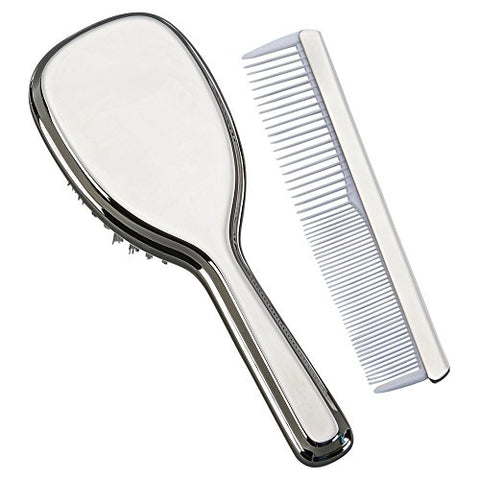 Creative Gifts International Comb & Brush Set for Girls, Silver