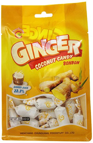 Chun Guang candy, Ginger/Coconut, 8.82 Ounce
