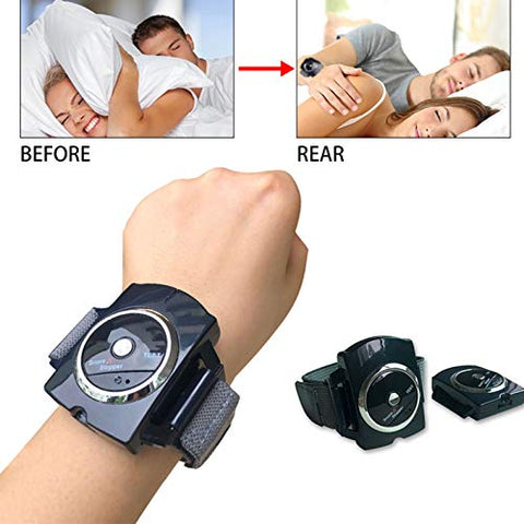 Smart Snorer Stop Snoring Biosensor Detection Anti-snoring Equipment Wristband Watch Sleep Aid (Color : Wrist Snoring Device)