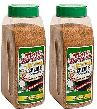 Tony Chachere's Original Creole Seasoning 32 oz - NO MSG (2 Bottles)