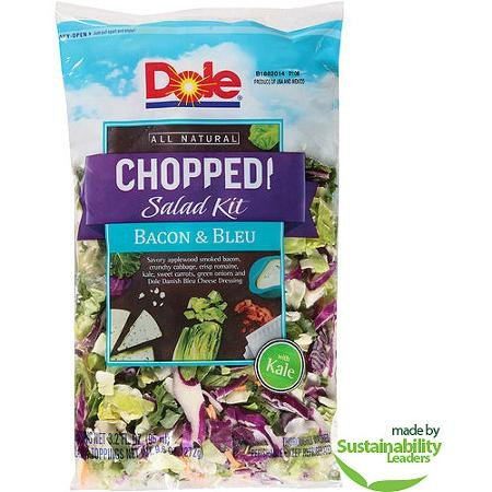 DOLE CHOPPED SALAD KIT BACON & BLEU 8 OZ BAG PACK OF 2