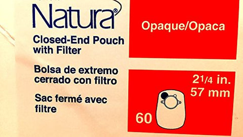 SUR-FIT Natura Closed-End Pouch with Filter - Flange Size: 1 3/4
