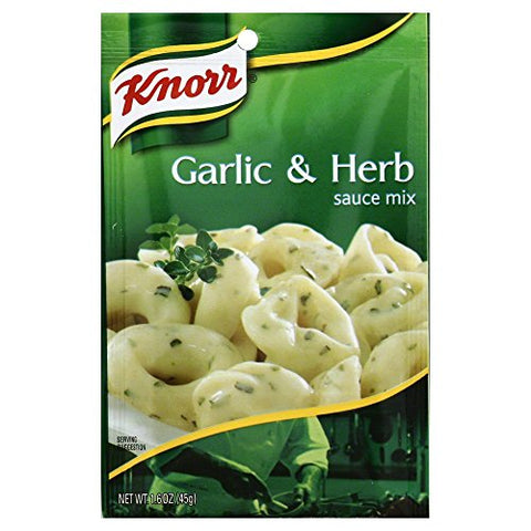 Knorr Pasta Sauces Garlic Herb Sauce Mix 1.6 Oz(Pack of 6)