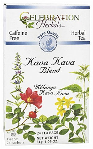 Celebration Herbals, Tea Kava Kava Organic, 24 Count