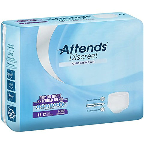 Attends(R) Overnight Ultra Absorbency Pull-On Incontinence Underwear - Xl